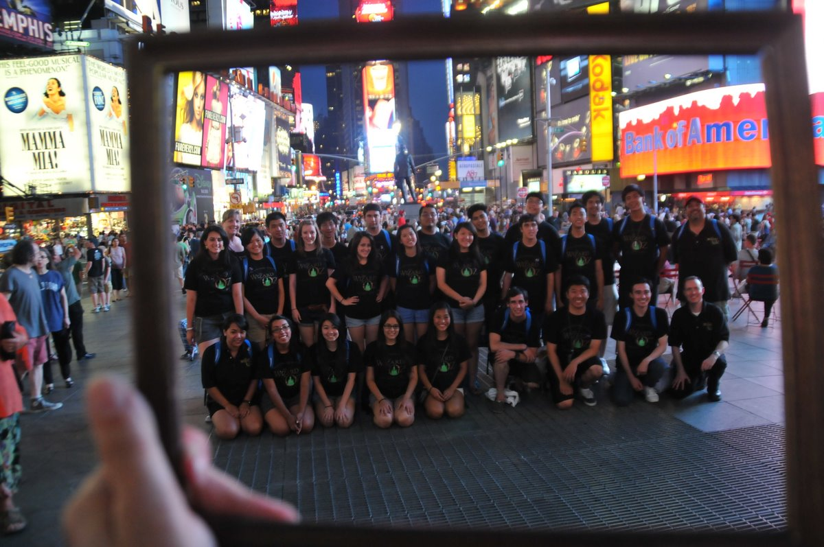 Temple City High School choir on Broadway, Times Sq - Promised Land of Dreams